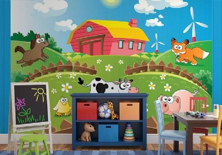 Animals - farm nursery wall mural
